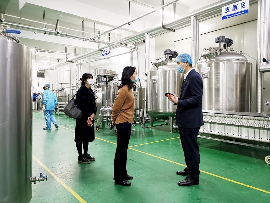 资讯 同安区副区长张斌娜一行莅临一阳生集团视察疫情防控复工